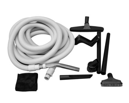 Essential garage and car vacuum kit for central vacuum system