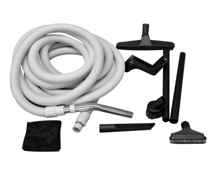 Essential Garage and car vacuum accessory package with 50 foot hose