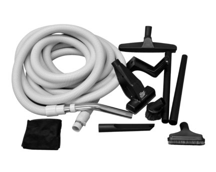 Replacement hose and accessory kit for car and garage vacuum