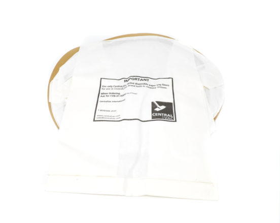 First stage 6-piece paper bag filter that fits most CentralVac units