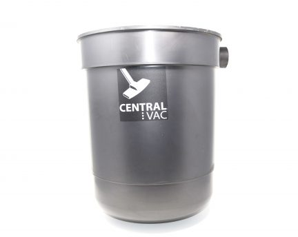 Dirt canister with single port on bottom - no lid