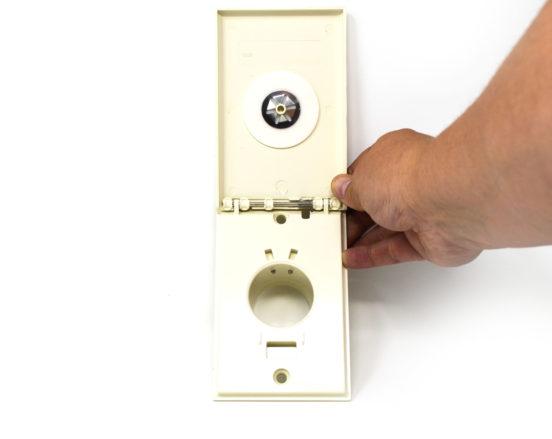 Almond Full Door Low Voltage Inlet Valve opening