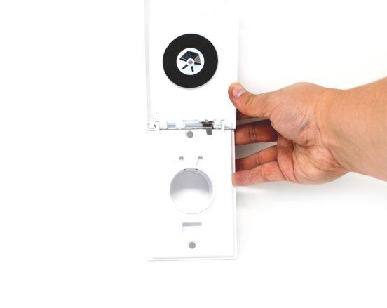 White Full Door Low Voltage Inlet Valve open