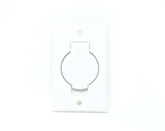 White round door inlet valve for low voltage units