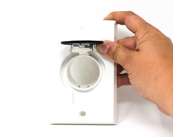 White round door inlet valve for low voltage unites
