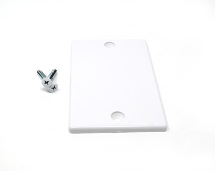 White Temporary Cover Plate with installation screws