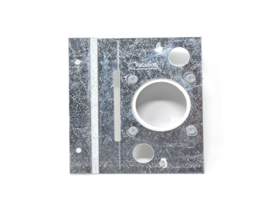 Metal wall Mounting plate for low voltage inlet valves