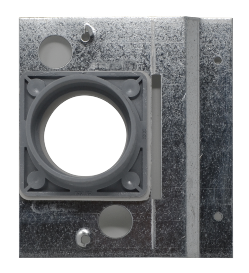 Metal mounting plate for portable central vacuum system