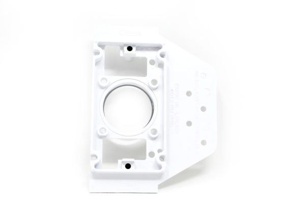 White mounting bracket for all low voltage inlet valves