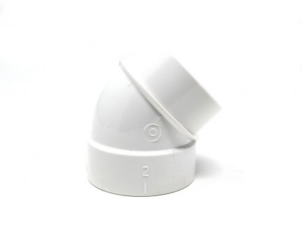 Female and Male short PVC 45 degree elbow