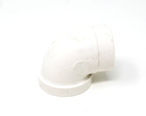 Female and Male short PVC 90 degree elbow for 2x3 walls