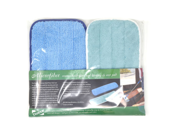 Hardwood floor vacuum replacement pads for dry and wet cleaning