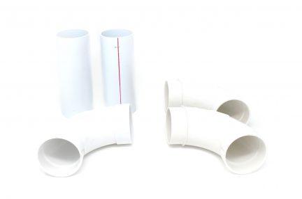 Single motor piping kit for CVS-07, CV-7 and CV-207