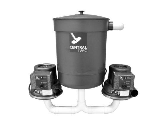 CVS-11dp dual power central vacuum system