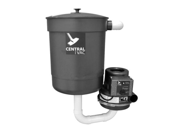 Central vacuum system motor and collection for CVS-16