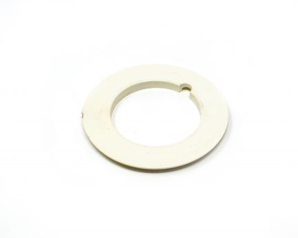 White PVC pipe collar for central vacuum system installation